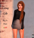 Zip It Skirt Gray Polka Dots Group Gift by even.flow - Teleport Hub - teleporthub.com