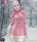 Wool Fur Trim Coat Rose Pink November 2014 Group Gift by Sugar Button Boutique - Teleport Hub - teleporthub.com