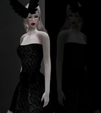 Black Lace Dress Group Gift by He La - Teleport Hub - teleporthub.com