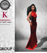 Posh Red Dress and Extra 100L Store Credit Group Gift by Kaithleen's - Teleport Hub - teleporthub.com