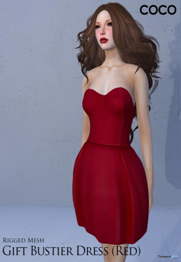 Bustier Red Dress Group Gift by COCO Designs - Teleport Hub - teleporthub.com