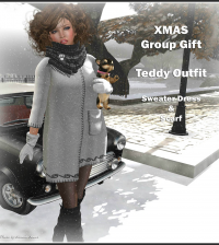 Teddy Outfit XMas 2014 Group Gift by FA CREATIONS - Teleport Hub - teleporthub.com