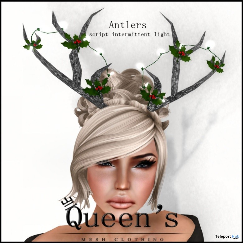 Christmas Antlers With Light Group Gift By Queen's