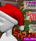 Full perm Santa Hat Group Gift by Mesh Agency - Teleport Hub - teleporthub.com