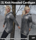 [S] Knit Hooded Cardigan Group Gift by [satus Inc] - Teleport Hub - teleporthub.com