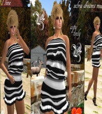 Zebra Dreams Mesh Dress Gift by Savoha Creations - Teleport Hub - teleporthub.com