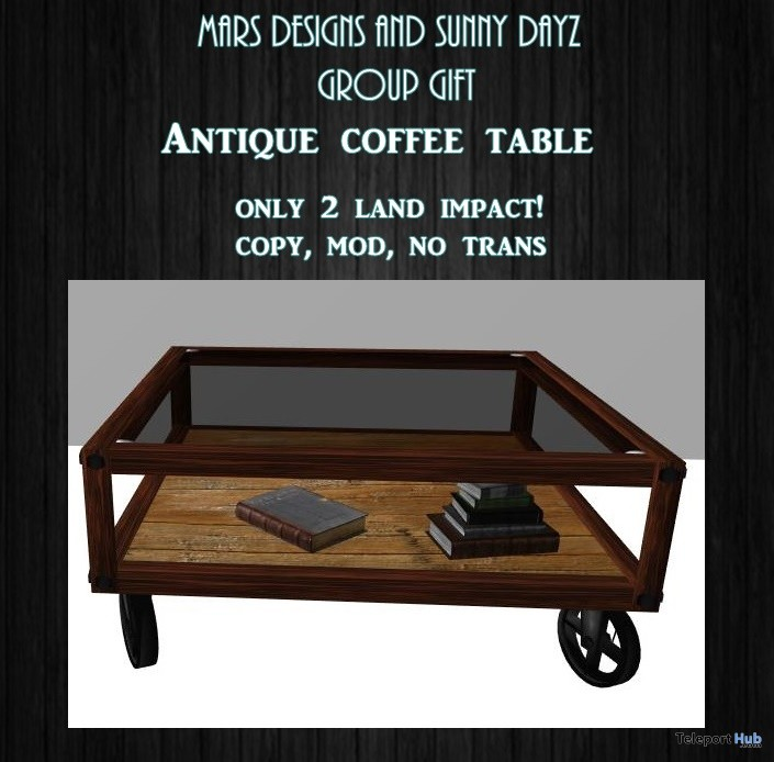 Antique Coffee Table Group Gift By Mars Designs And Sunny