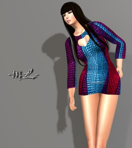 Carlota Dress V4 1L Promo by monaLISA - Teleport Hub - teleporthub.com
