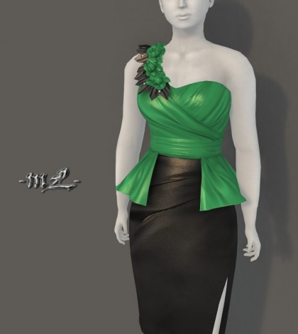 Elodie Dress Green Group Gift by monaLISA - Teleport Hub - teleporthub.com