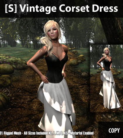 [S] Vintage Corset Dress Group Gift by [satus Inc] - Teleport Hub - teleporthub.com