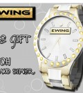 Gold Silver Watch by EWING - Teleport Hub - teleporthub.com