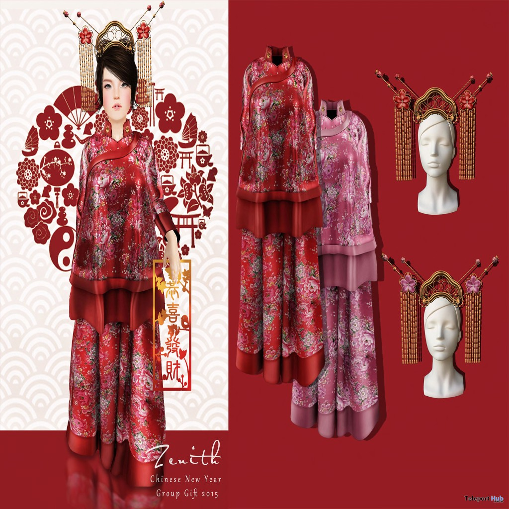 2015 Chinese New Year Dress Group Gift by Zenith Fashion