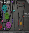 Rapture Rave Smiley Necklace Group Gift by Maxi Gossamer - Teleport Hub - teleporthub.com