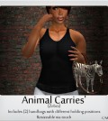 Animal Carries Zebra Handbag 50L Promo by [Earth's] - Teleport Hub - teleporthub.com