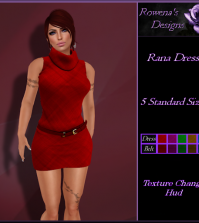 Rana Dress Red Group Gift by Rowena's Design - Teleport Hub - teleporthub.com