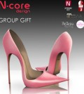 Pale Pink Stiletto Group Gift by N-Core - Teleport Hub - teleporthub.com