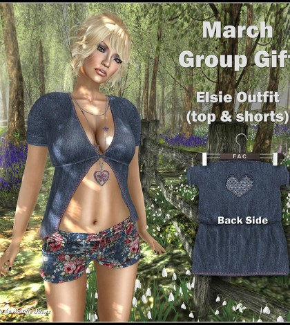 Elsie Outfit March 2015 Group Gift by FA CREATIONS - Teleport Hub - teleporthub.com