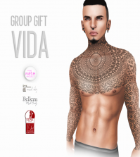 Vida Male Body Tattoo with TMP Appliers Group Gift by Reckless - Teleport Hub - teleporthub.com