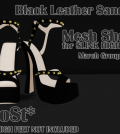 Black Leather Sandals Group Gift by MoSt - Teleport Hub - teleporthub.com