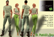 St. Patrick's Day Outfits For Men and Women Group Gifts by Just Imagine and Wolves Land - Teleport Hub - teleporthub.com