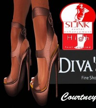 High Heel Pumps Brown For Slink Feet by Diva's Shoes - Teleport Hub - teleporthub.com