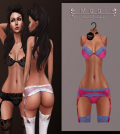 Ivana Lingerie Pink with Mesh Body Appliers Group Gift by MAAI - Teleport Hub - teleporthub.com