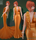Uriel Gown Group Gift by PurpleMoon - Teleport Hub - teleporthub.com