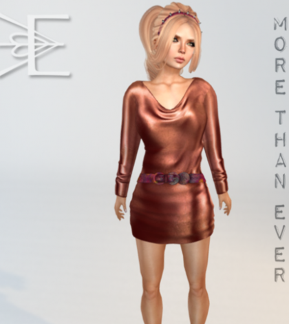 Gasoline Quicksilver Dress in Copper Group Gift by More Than Ever - Teleport Hub - teleporthub.com