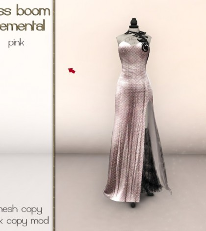 Elemental Pink Gown Group Gift by siss boom - Teleport Hub - teleporthub.com