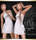 Zebra and Giraffe White Dress April 2015 Group Gift by -AZUL- - Teleport Hub - teleporthub.com