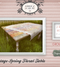 Vintage Spring Floral Table Group Gift by irrie's Dollhouse - Teleport Hub - teleporthub.com