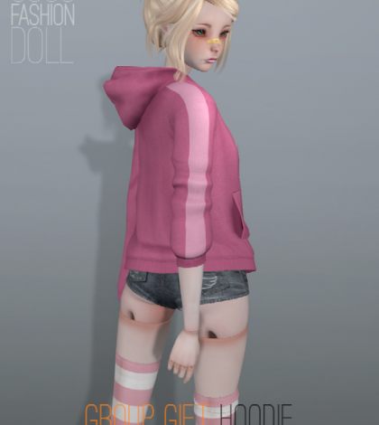 Hoodie Pink Group Gift by COCO Fashion Doll - Teleport Hub - teleporthub.com