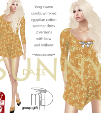 Sunny Daze Dress May 2015 Group Gift by Mutiny in Heaven - Teleport Hub - teleporthub.com