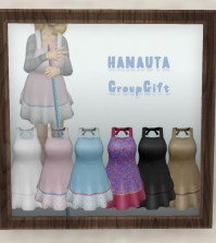 Apron 5 Colors Group Gift by HANAUTA - Teleport Hub - teleporthub.com