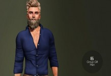 Blue Shirt and Brown Pants For Men May 2015 Group Gift by Gizza Creations - Teleport Hub - teleporthub.com