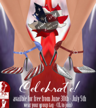 Celebrate July1st & July 4th Heels Group Gift by Mutiny in Heaven - Teleport Hub - teleporthub.com