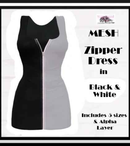 Zipper Dress Black & White Group Gift by WinTeRwooD Designs - Teleport Hub - teleporthub.com