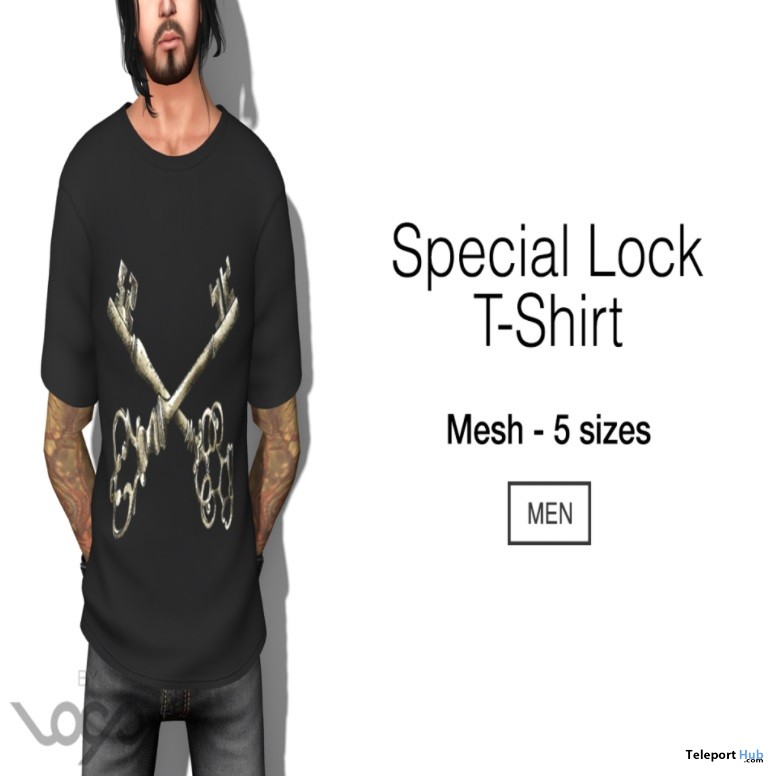Special lock t shirt for men group gift by loop teleport for Locker loop dress shirt