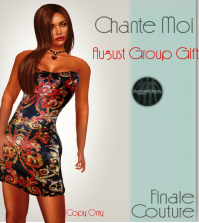 Chante Moi Dress August 2015 Group Gift by Finale Couture - Teleport Hub - teleporthub.com