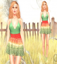 Monica Dress Round 1 July 2015 Group Gifts at Cosmopolitan BiWeekly Event by Hilly Haalan - Teleport Hub - teleporthub.com