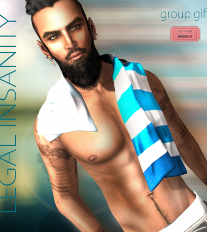 Towel for Him July 2015 Group Gift by Legal Insanity - Teleport Hub - teleporthub.com