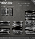Bangles Damasc SILVER V2 July 2015 Group Gift by Maxi Gossamer - Teleport Hub - teleporthub.com