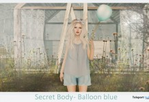 Blue Balloon and Pose by Secret Body - Teleport Hub - teleporthub.com