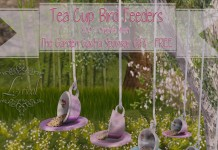 Tea Cup Bird Feeders Gimme Gacha Group Gift by Lyrical - Teleport Hub - teleporthub.com