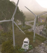 Wind Turbine by Apple Fall - Teleport Hub - teleporthub.com