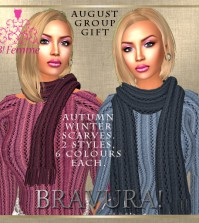 Autumn Winter Scarves August 2015 Group Gift by B!Femme - Teleport Hub - teleporthub.com