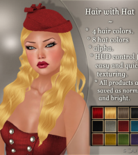 Hair with PomPom Hat Group Gift by !Soul - Teleport Hub - teleporthub.com