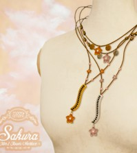 Sakura Necklace Gold and Silver by Moon Amore - Teleport Hub - teleporthub.com