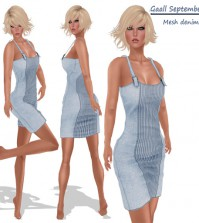 Denim Dress September 2015 Group Gift by GAALL - Teleport Hub - teleporthub.com
