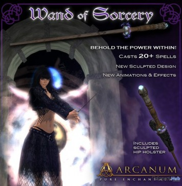 Sorcerer's Wand Spellcasting System by The Arcanum - Teleport Hub - teleporthub.com